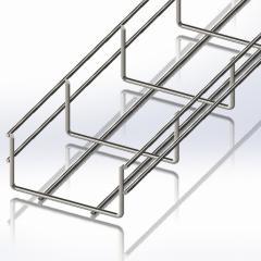 Tray mesh 100х50, mm Ø4 wire, white zinc, 2,5m