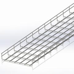 Tray mesh 300х50, mm Ø4 wire, white zinc, 2,5m