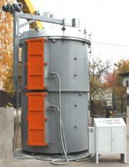 Электропечь шахтная с защитной атмосферой...