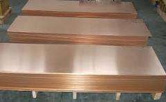 Brass plate 0.55х1000х2000 producer of KME