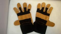 Gloves leather (split) + special fabric
