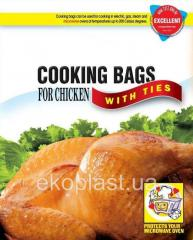 Bags for cooking and roasting chicken, meat, fish,