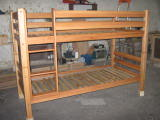 Кроватка детская деревянная двухъярусная