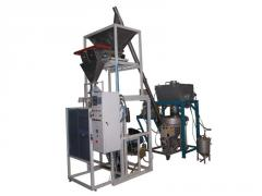 Equipment for mixing and packing of loose products