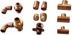 Copper fitting, corners, couplings, transitions,