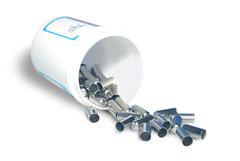 Nickel capsules, 502-183, 11x5 mm packaging on 100