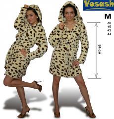 Женский халат махровый Леопард 38 - 44
