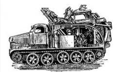 Быстроходная траншейная машина БТМ-3