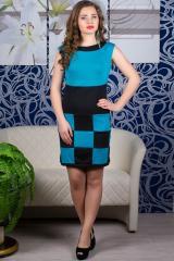 молодежное платье шахматка