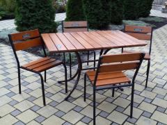 Комплект стол и стулья из дерева