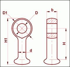 Серьга марки СР-21-20