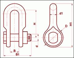 Скоба с цепным шарниром СК-21-1А
