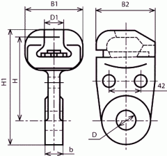 Ушки арматурные У1-30-24