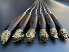 Шампуры Подарок охотнику в чехле из плотной ткани
