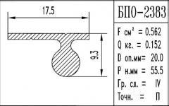 Профиль  алюминиевый марка БПО – 2383