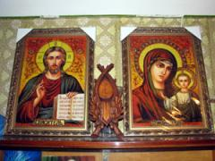 Icons from amber Kiev