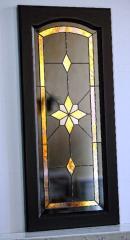 Витраж классический с элементами зеркала