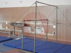 Uneven parallel bars gymnastic