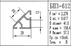 The aluminum shape the BPZ brand - 612