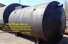 The tank for sewage of 25 cbm