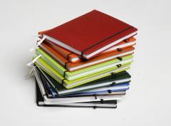 Bright colourful notebooks for records
