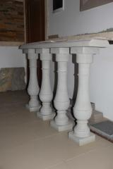 Rail-posts from sandstone
