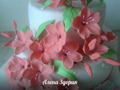 """Украшение на торты """"Сахарные цветы"""""""