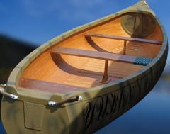 Canoe with transom under the Yukon-M motor - for
