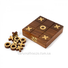 Игра крестики нолики G155F в коробке из дерева