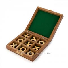 Игра крестики нолики 1821А в коробке из дерева