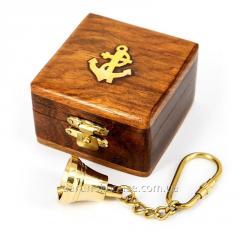 Брелок рында (судовой колокол) в деревянной