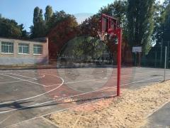 Basketbal rekken straat afzonderlijk