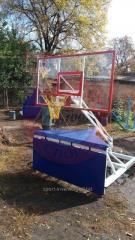 Gevoerde bescherming voor basketbal rack mobiele professional