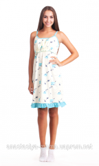 Nightgown for feeding on shoulder-straps 838