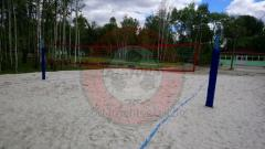 Volleyball net for beach volleyball