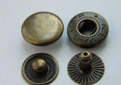 Кнопка 12,5мм № 54 антик (бронзовый) 1440 шт.