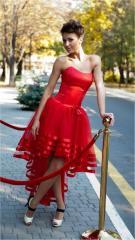 G0479 Платье вечернее на корсете со шлейфом