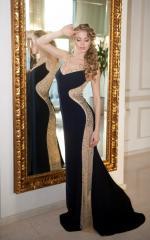 G0632 Выпускное платье вечернее с рельефными