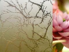 Стеклопакет с узорчатым стеклом Гранит
