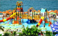 Горки для бассейнов (детские водные горки, фонтаны