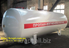 The tank for storage of the liquefied