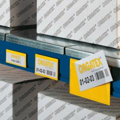 Marking of a container and racks of ORGATEX