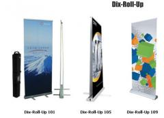 Mobile stand Dix Roll-Up, mobile roll-up banners,