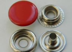 Кнопка №61 15 мм покрашенная эмалью красная