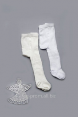 Tights for baptism white and milk