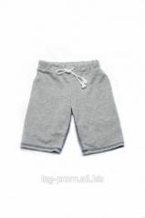 Шорты-бермуды для мальчика серые (поло)