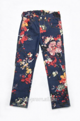 Jeans for the girl with flower prin