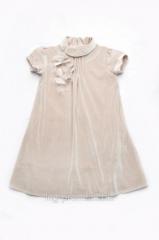 Children's elegant dress for the girl velvet