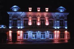 Художественная светодиодная подсветка фасадов