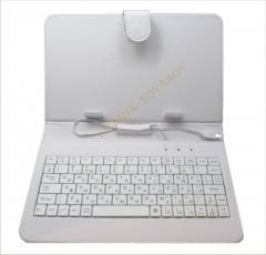 """Чехол для планшета клавиатура 7"""""""" белый"""